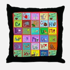 alphabet soup creations Throw Pillow