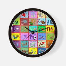 alphabet soup creations Wall Clock