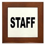 Staff Framed Tile