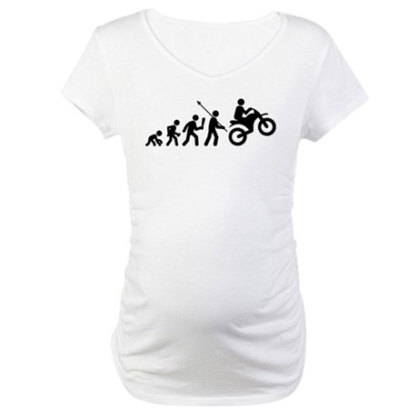 Dirt Biking Maternity T-Shirt