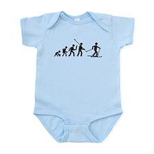 Cross Country Skiing Infant Bodysuit