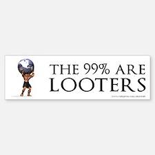 Atlas 99% Looters, Bumper Bumper Sticker