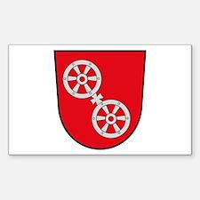Mainz Coat of Arms Rectangle Decal