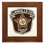 Lanville County Sheriff Framed Tile