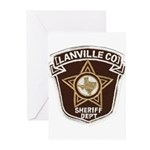 Lanville County Sheriff Greeting Cards (Package of