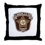 Lanville County Sheriff Throw Pillow