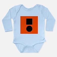 Universal Distress Flag Long Sleeve Infant Bodysui