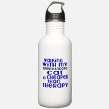 Walking With My turkis Sports Water Bottle