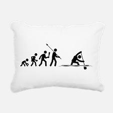 Canoe Sprint Rectangular Canvas Pillow