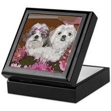 Shih Tzu Pop Art Daisy Dixie Keepsake Box