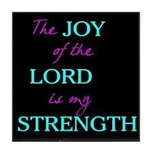 Inspirational Nehemiah Print Tile Coaster