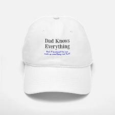 Dad Knows Everything Baseball Baseball Cap