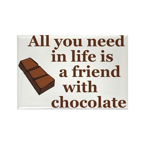 All you need in life is a friend with chocolate Re