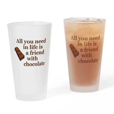 All you need in life is a friend with chocolate Dr