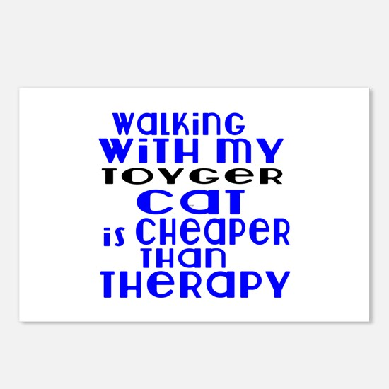 Walking With My toyger Ca Postcards (Package of 8)