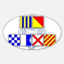 GO NAVY Signal Flags Decal