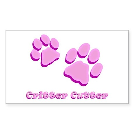Critter Cutter Sticker (Rectangle)