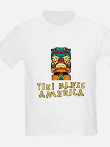 Tiki Bless America Kids T-Shirt