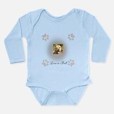 Love-a-Bull Grey Long Sleeve Infant Bodysuit
