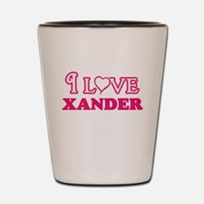I Love Xander Shot Glass