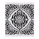 Black white damask blanket Blankets
