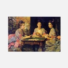 Hearts Are Trumps, Millais Rectangle Magnet