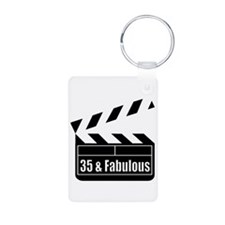 HAPPY 35TH BIRTHDAY Keychains