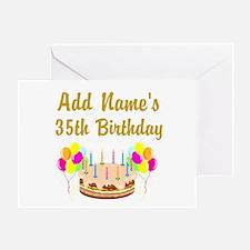 HAPPY 35TH BIRTHDAY Greeting Card