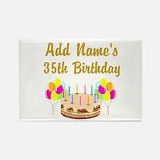 HAPPY 35TH BIRTHDAY Rectangle Magnet