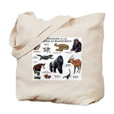 Wildlife of the African Rainforests Tote Bag
