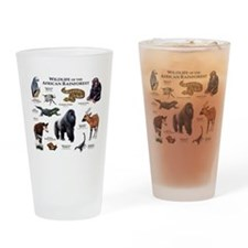 Wildlife of the African Rainforests Drinking Glass
