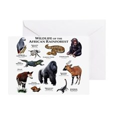 Wildlife of the African Rainforests Greeting Card
