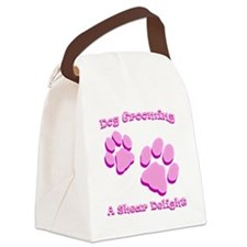 Dog Grooming A Shear Delight. Canvas Lunch Bag