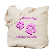 Dog Grooming A Shear Delight. Tote Bag