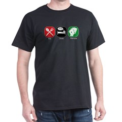 Eat Sleep Gamble Black T-Shirt