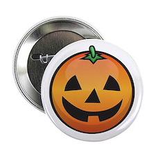 """Pumpkin Smiley 2.25"""" Button"""