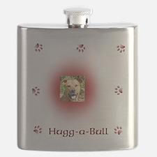 Hugg-a-bull dk red Flask
