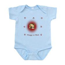 2 sided Hugg-a-bull dk red Infant Bodysuit