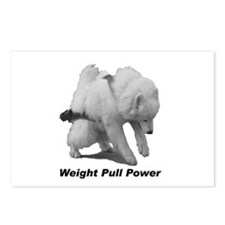 Samoyed Weight Pull Power Postcards (Package of 8)
