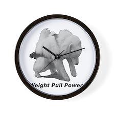 Samoyed Weight Pull Power Wall Clock