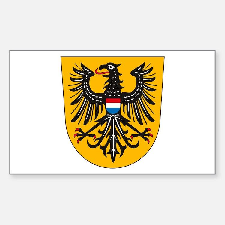 Heilbronn Coat of Arms Rectangle Decal
