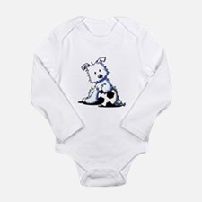 Westie Soccer Star Long Sleeve Infant Bodysuit