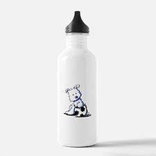 Westie Soccer Star Water Bottle