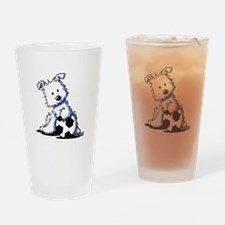 Westie Soccer Star Drinking Glass