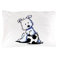 Westie Soccer Star Pillow Case