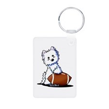 Westie Football Star Keychains