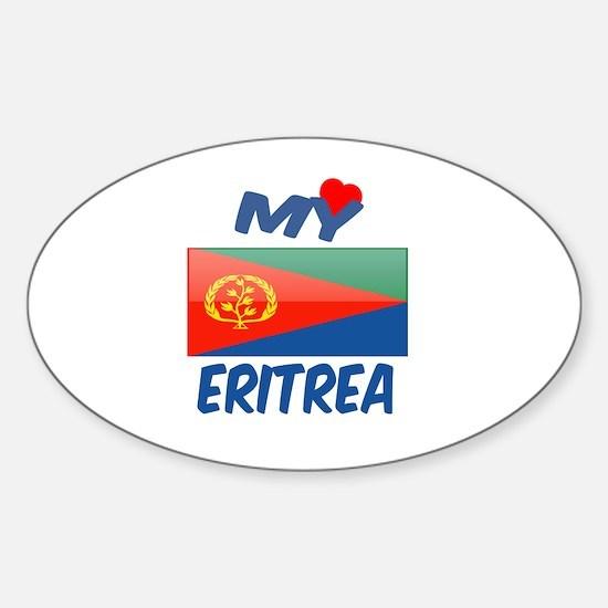 My Love Eritrea Sticker (Oval)