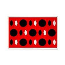 Red Black Perception Designer Rectangle Magnets