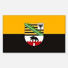 Sachsen Anhalt Flag Rectangle Decal