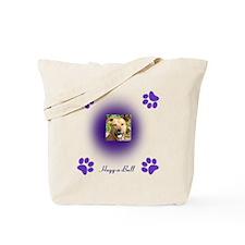 hugg-a-bull purple Tote Bag